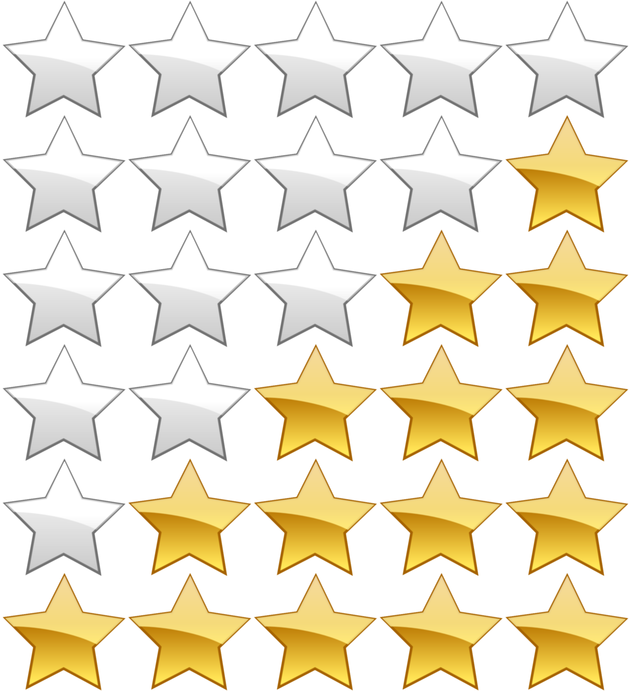 5 star rating png