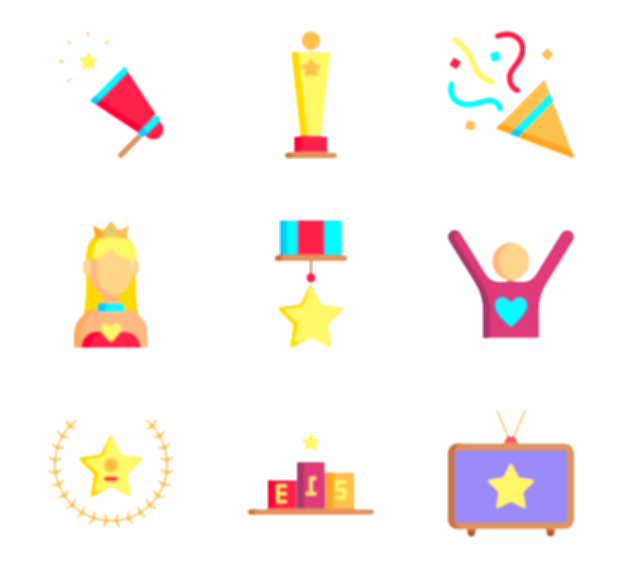 5 star vector png