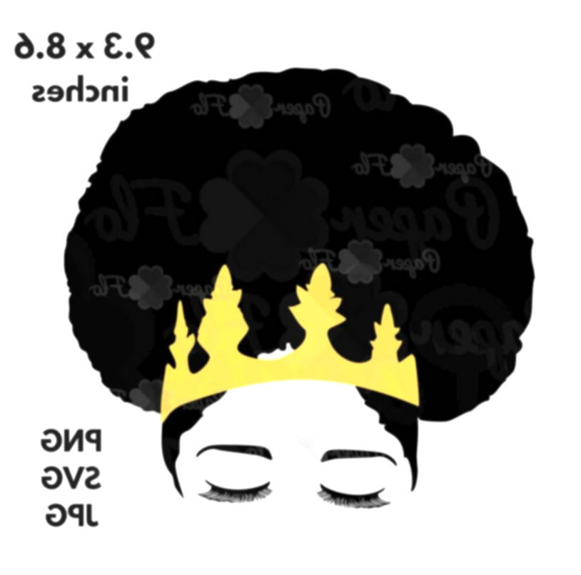 afro clipart crown silhouette