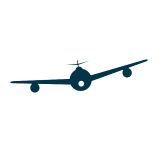 aircraft vector airplane front
