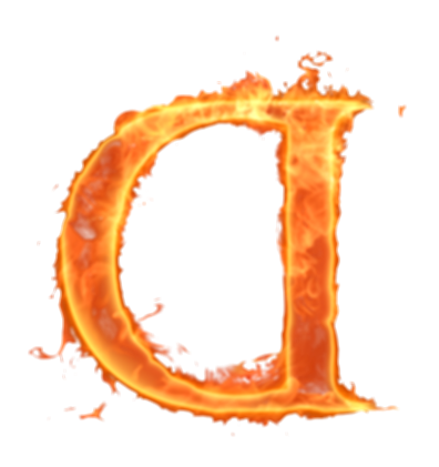 alphabet on fire png