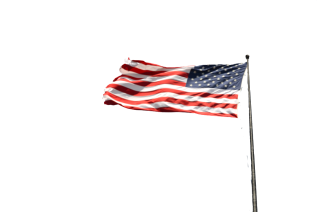 american flag on pole png
