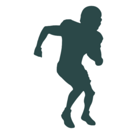 american football player silhouette png