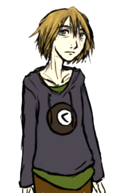 androgynous drawing person