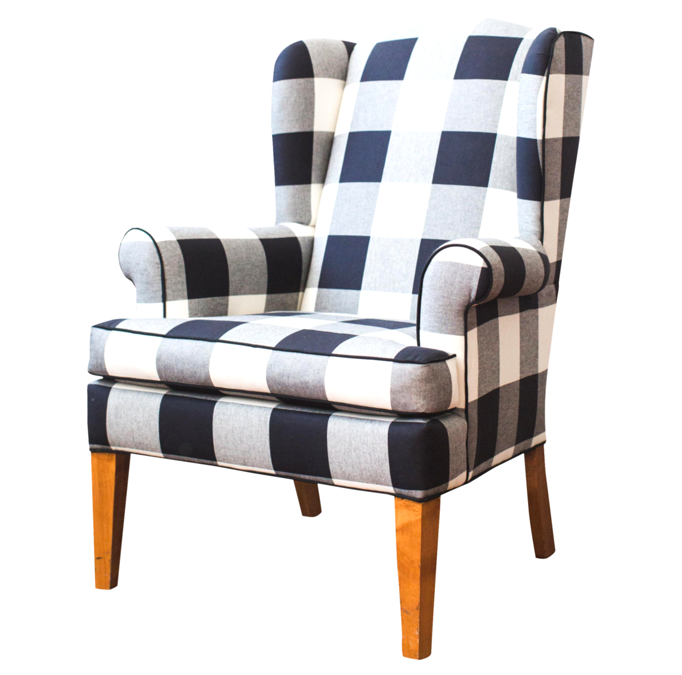 armchair drawing wing chair