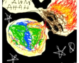 asteroid clipart fire