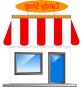 awning vector candy shop