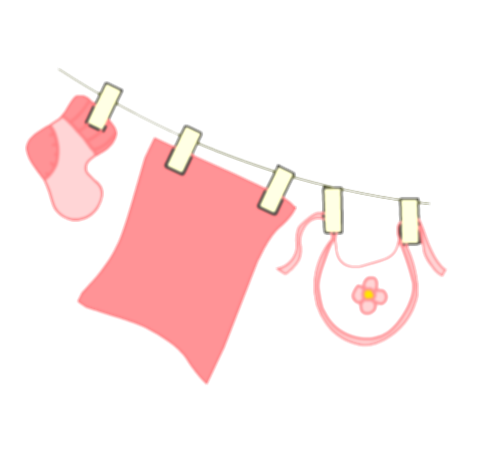 baby clothes line png