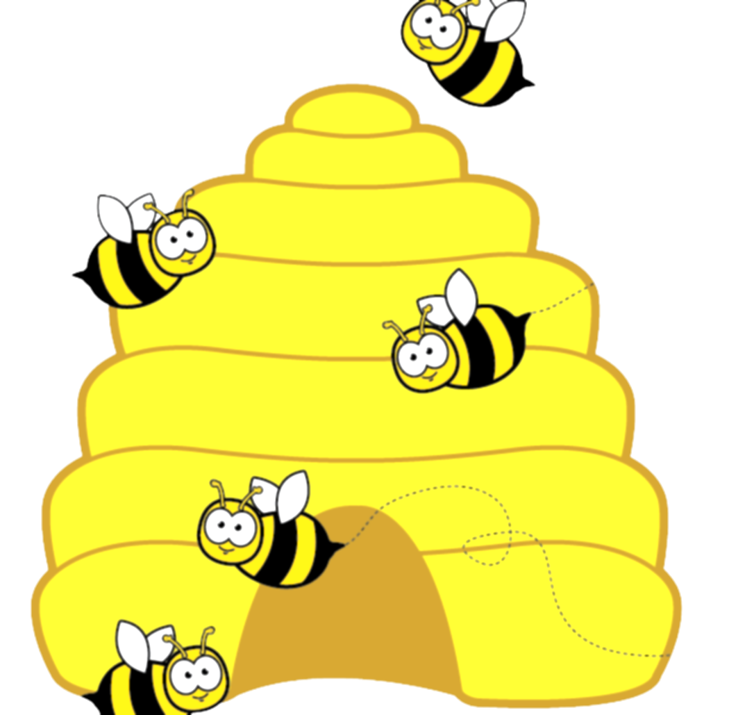 beehive clipart summer