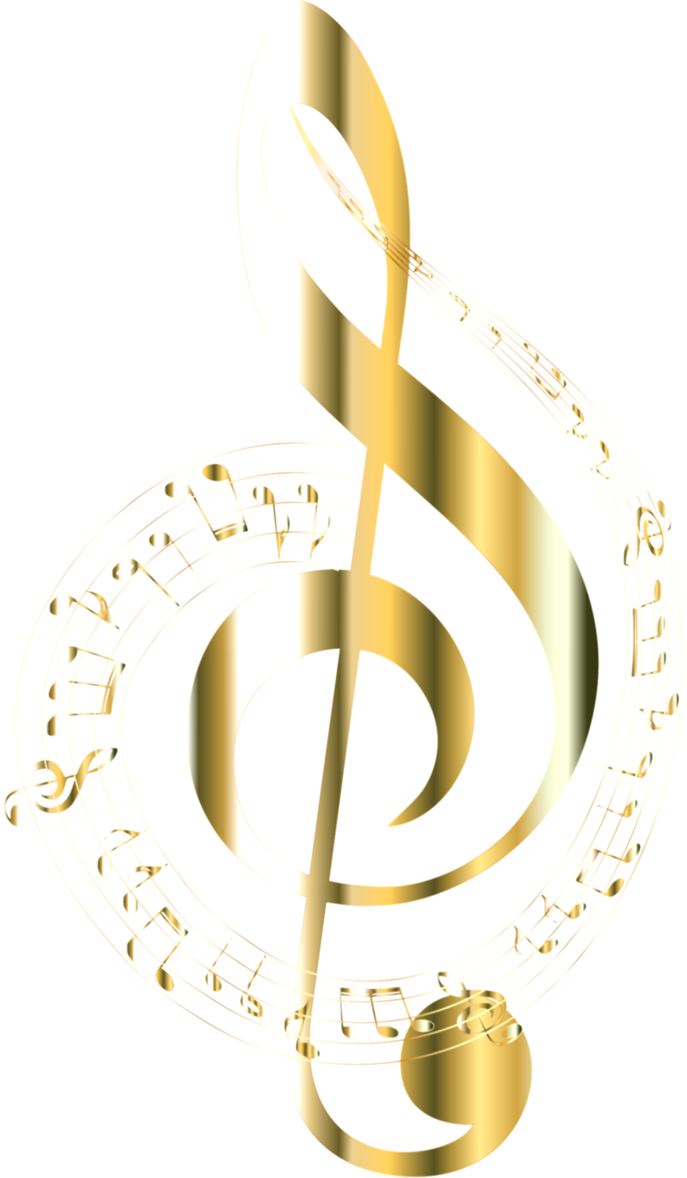 black and gold music notes png