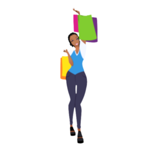 black woman standing png