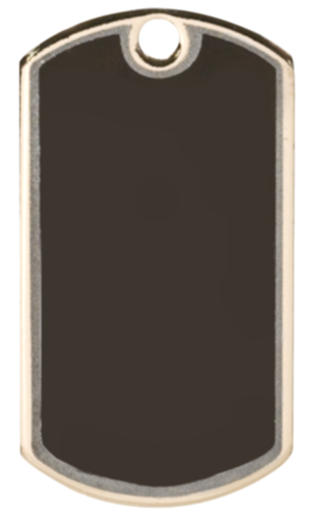 blank dog tag png