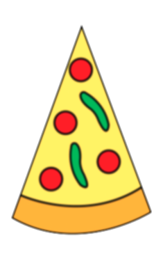 blank drawing pizza