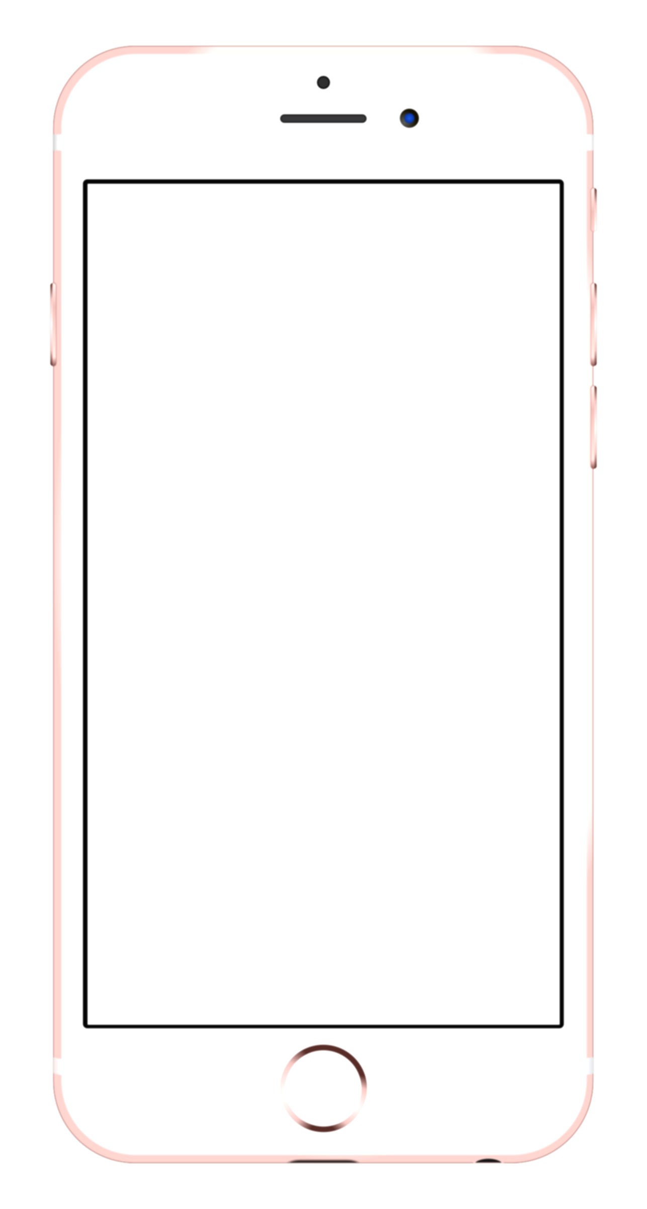 blank iphone png