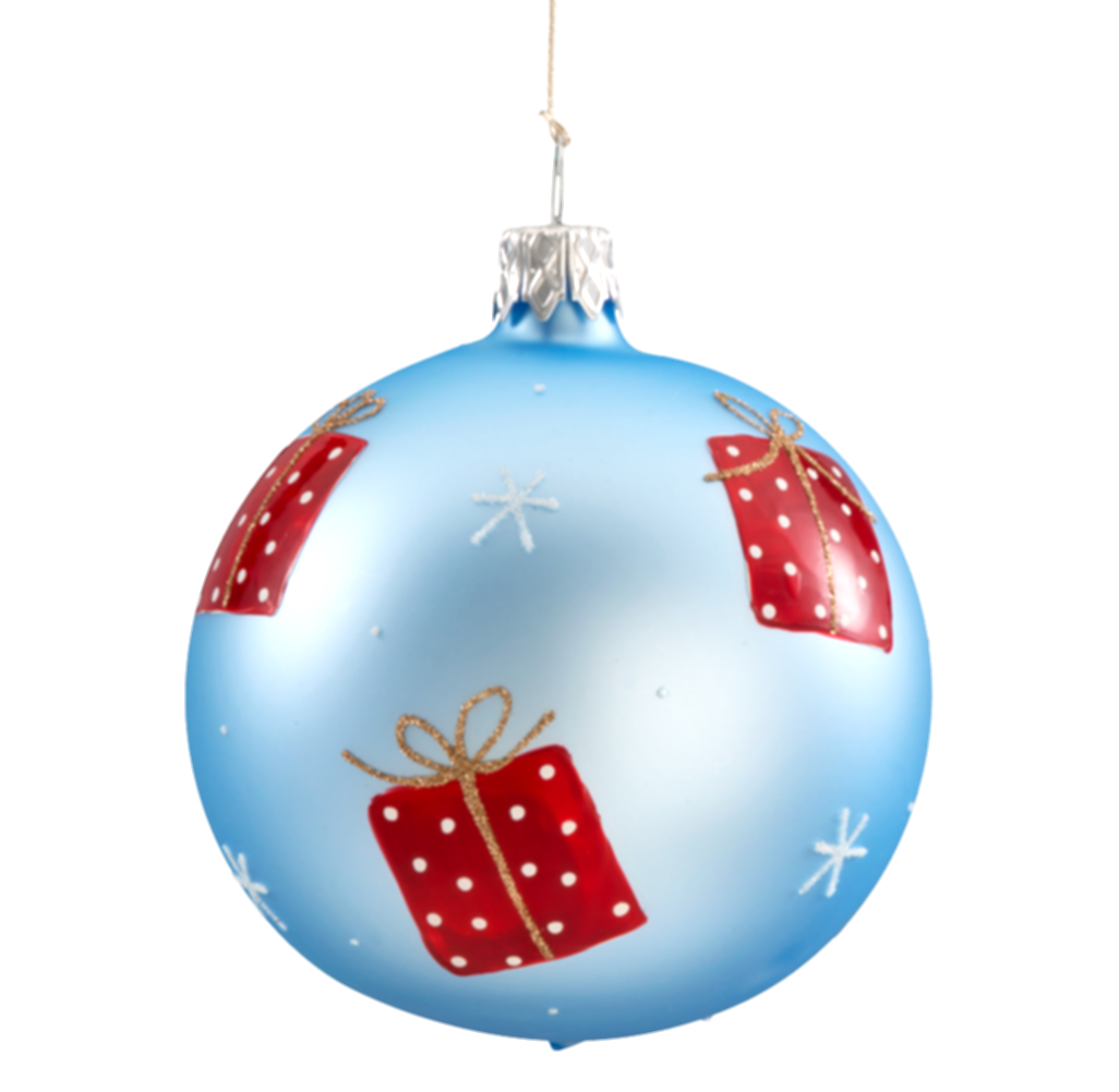 blue glitter christmas ornaments png