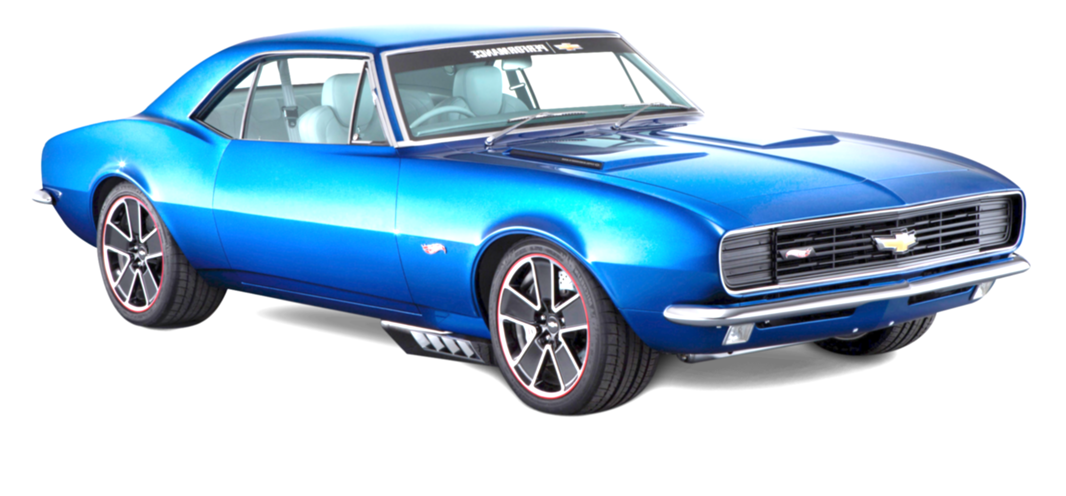 blue muscle car png white background