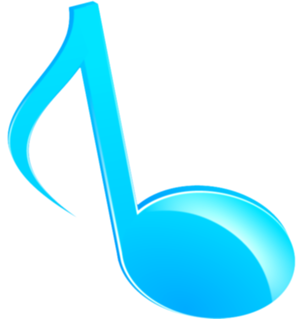blue music notes png