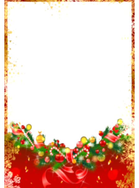 boarder red christmas ornaments png