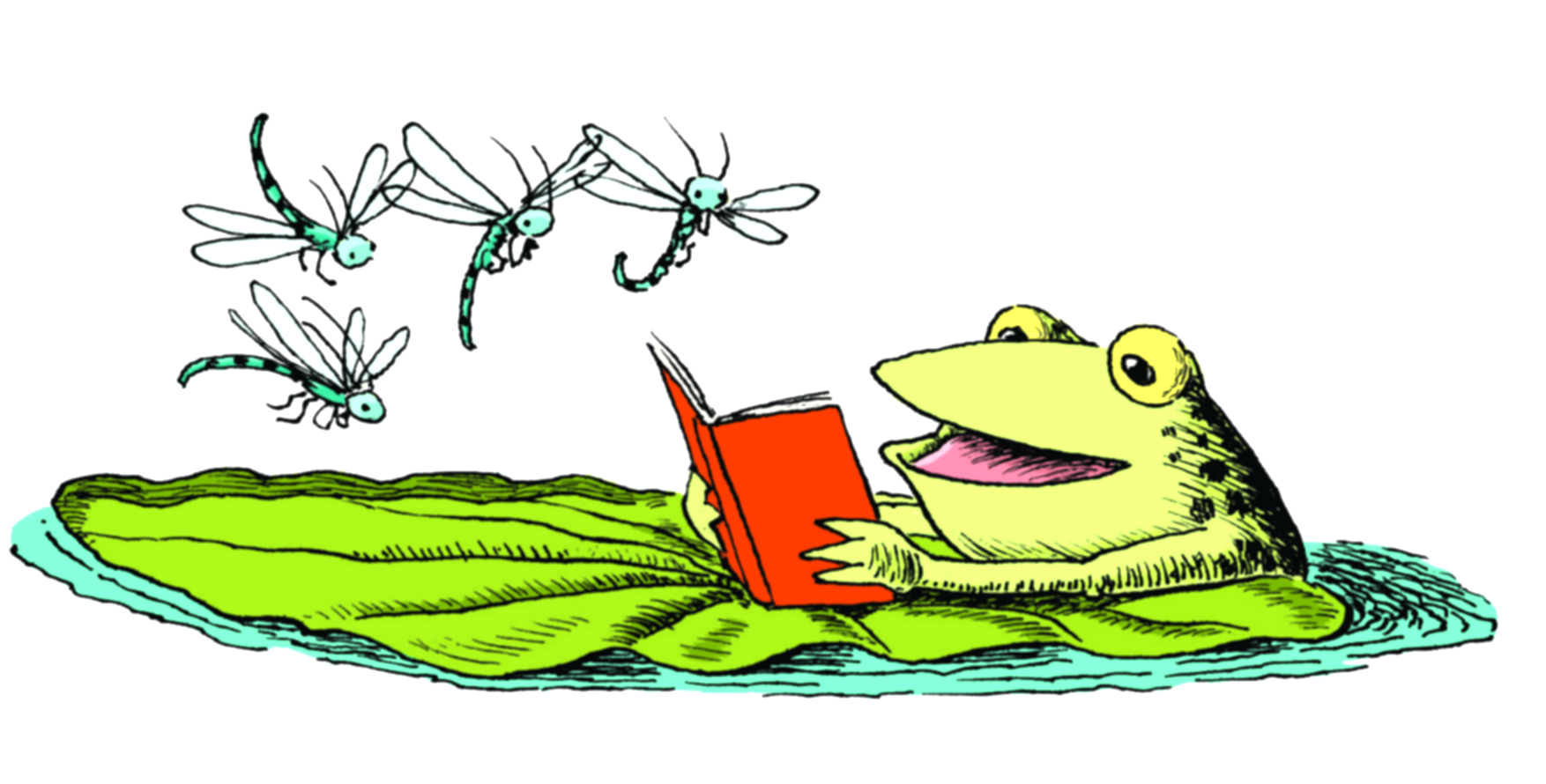 book clipart frog
