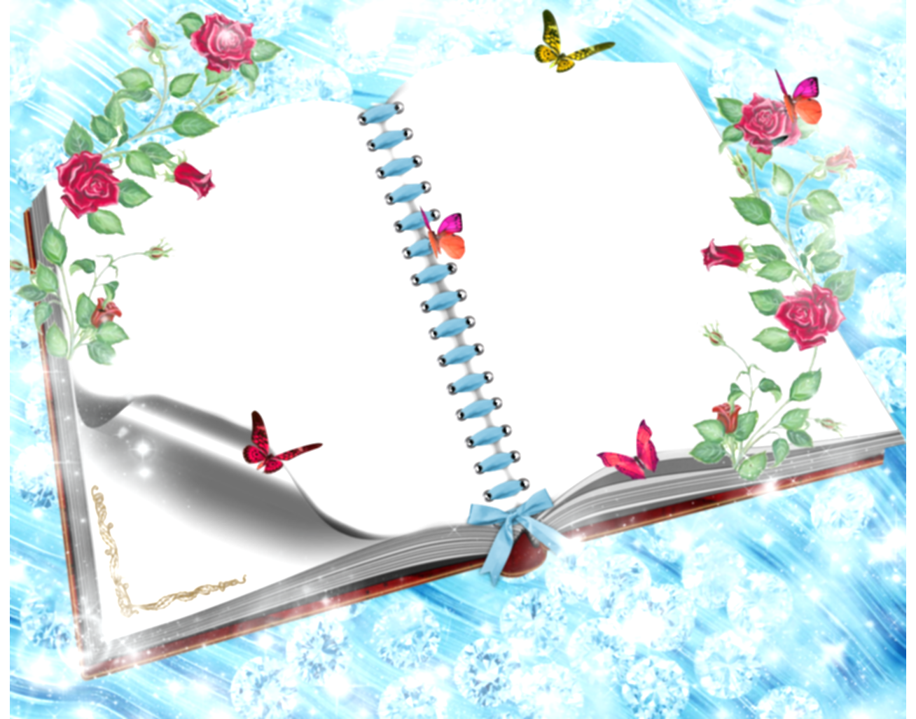 book frame png
