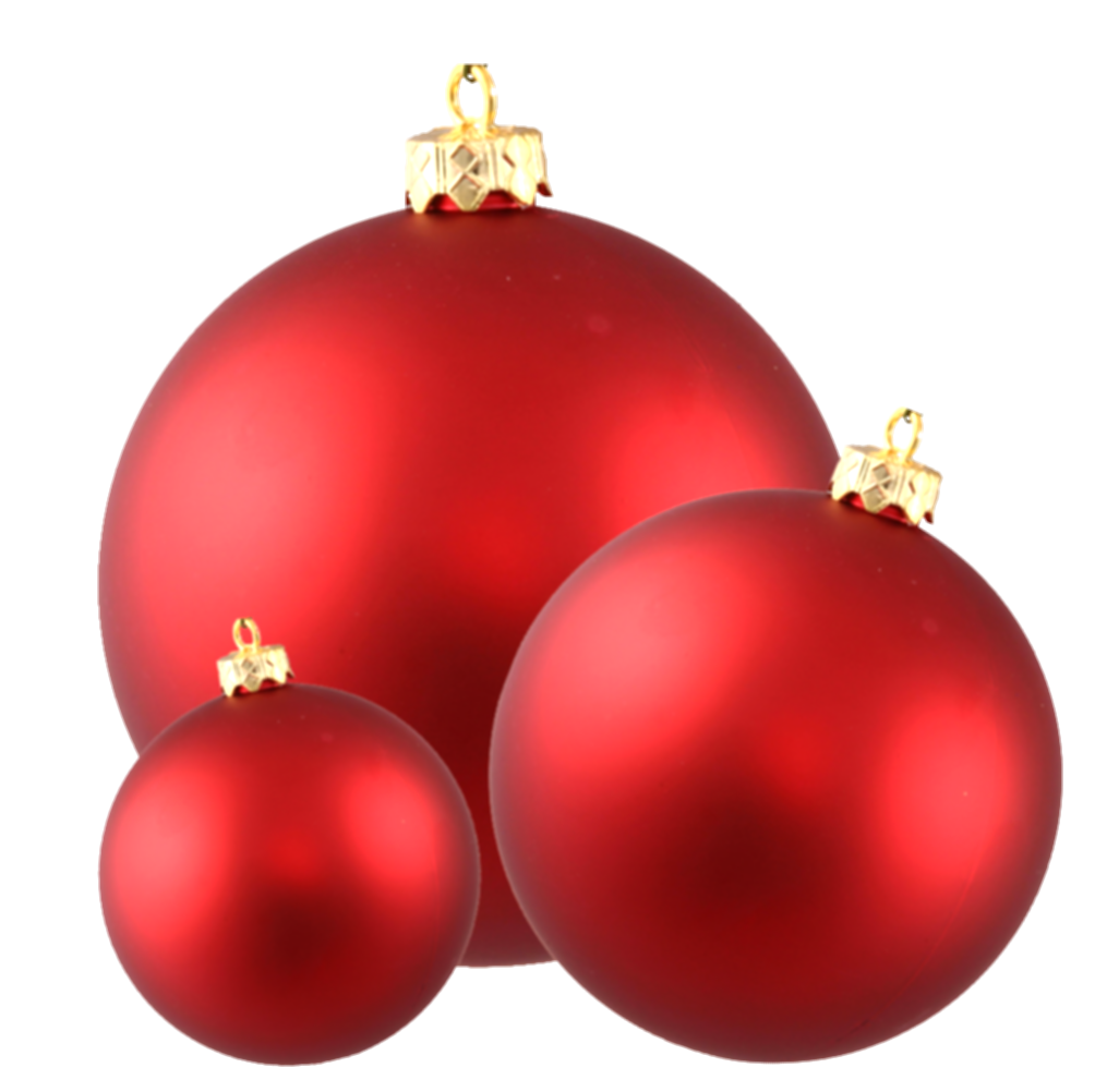 border red christmas ornaments png