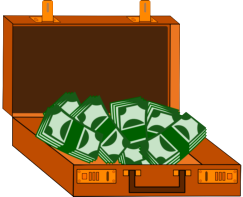 briefcase full of money png art