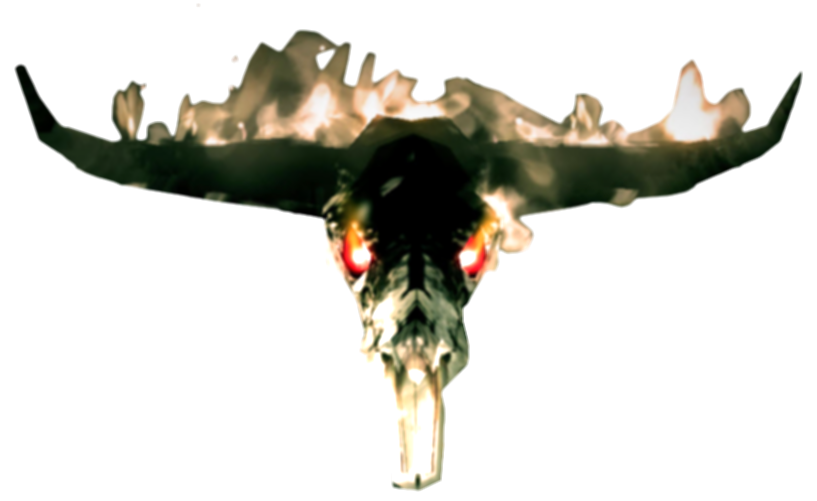 bull on fire png