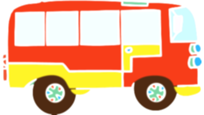 bus clipart toy