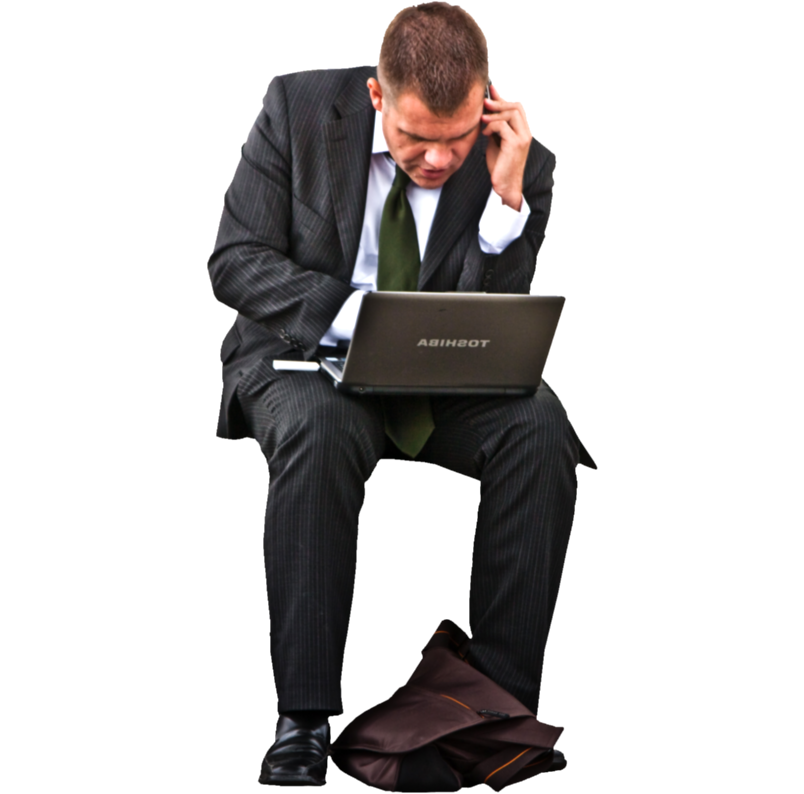 business people sitting png