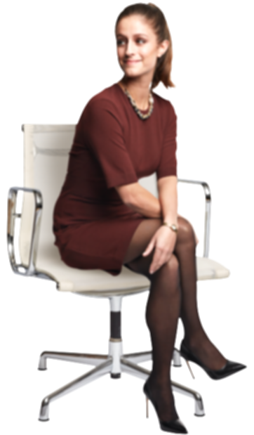 business woman sitting png