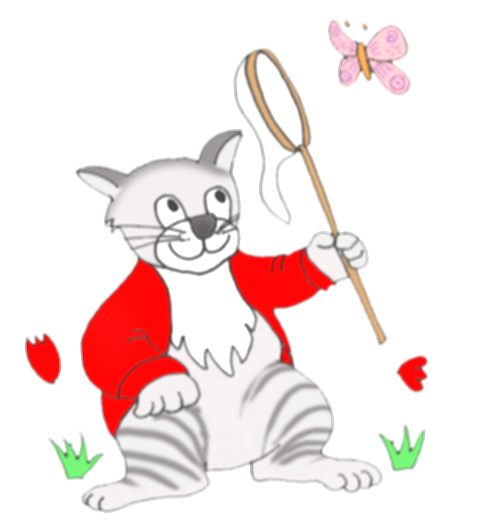 butterfly clipart cat