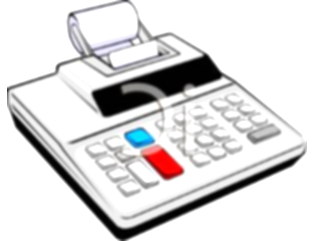 calculator clipart office items