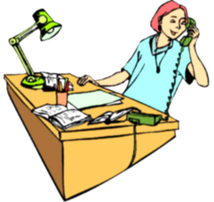 call clipart office