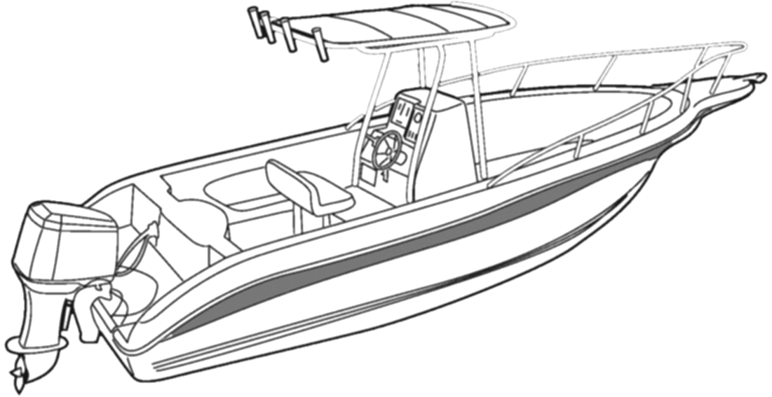 transport drawing speed boat