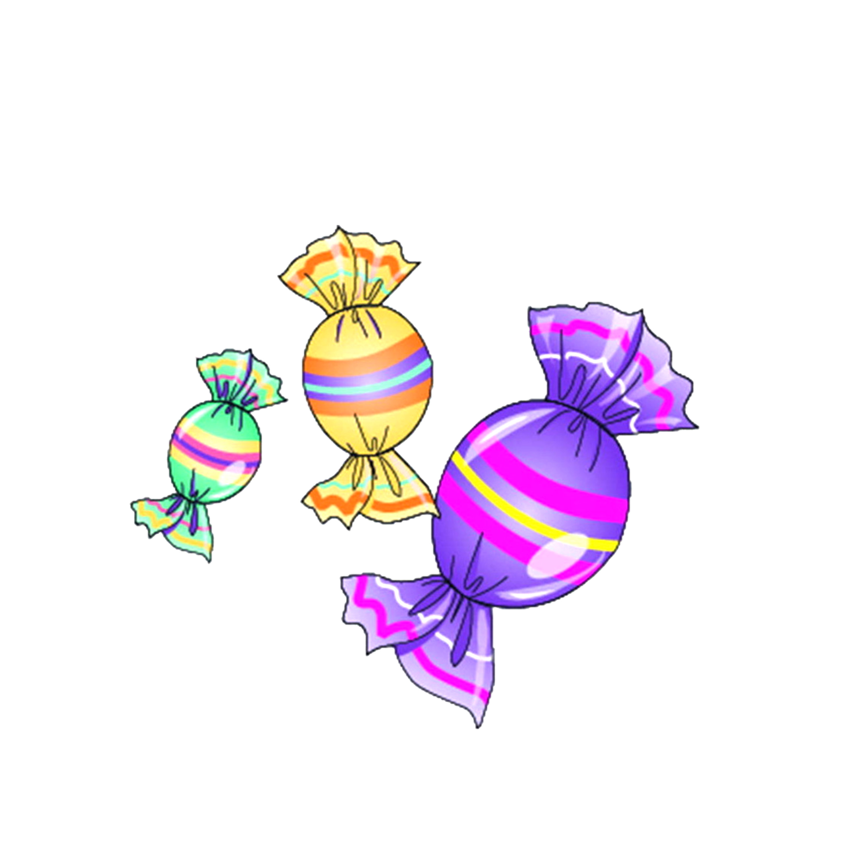 candies drawing easter