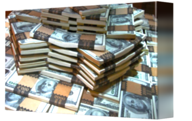 cash drawing stacked money