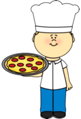 catering clipart pizza chef