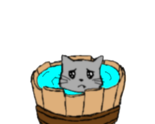 cats clipart water