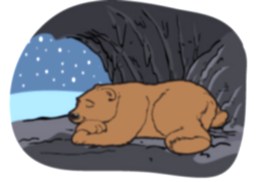 cave clipart winter