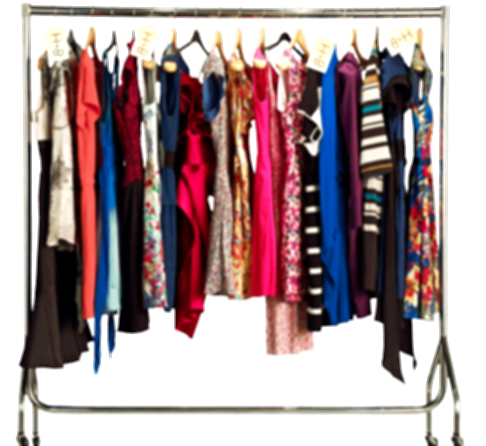 clothes on rack png
