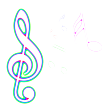 color music notes png
