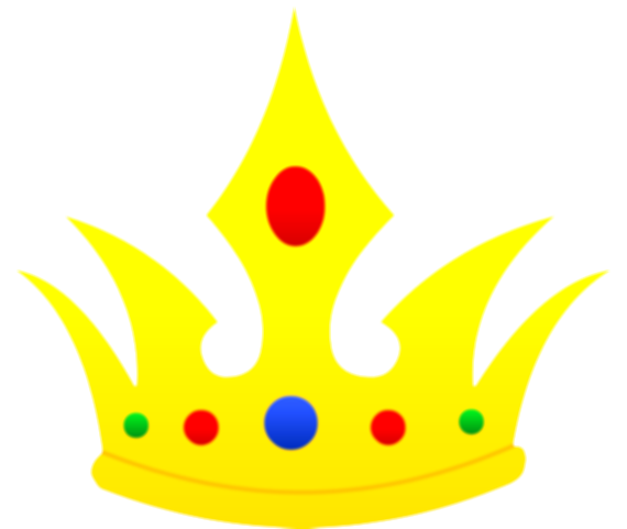 colored drawing crown