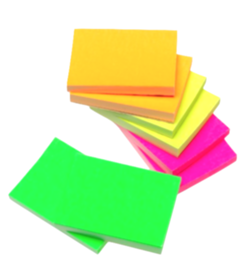 colorful post it notes png