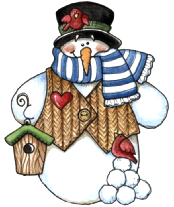 country clipart snowman