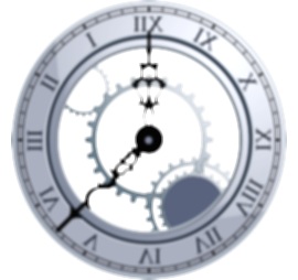 cracked drawing clock