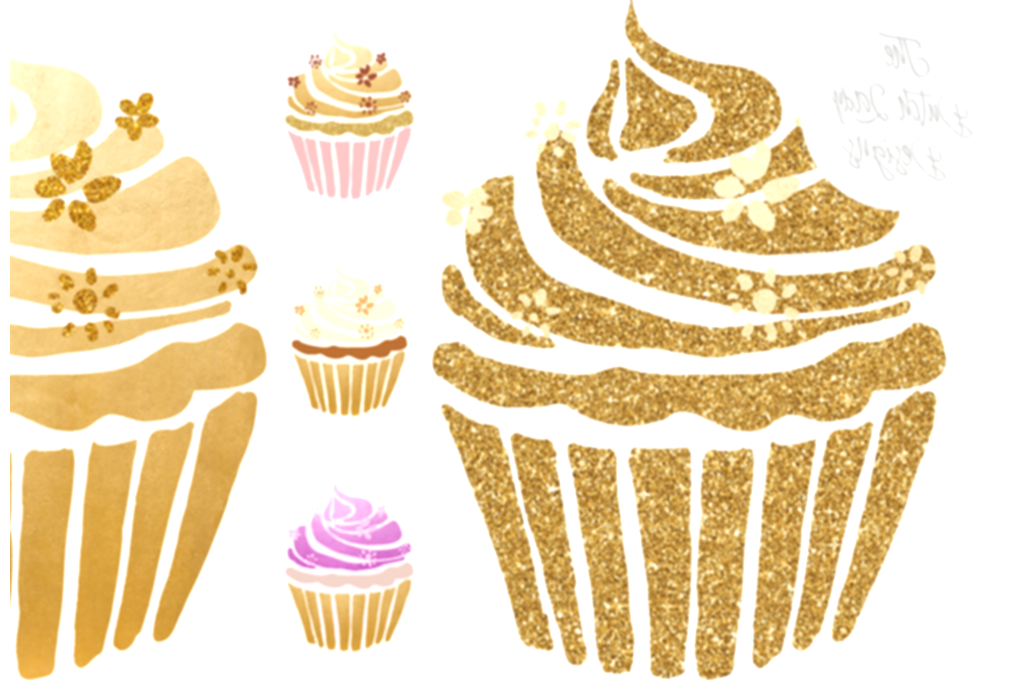cupcake clipart lady