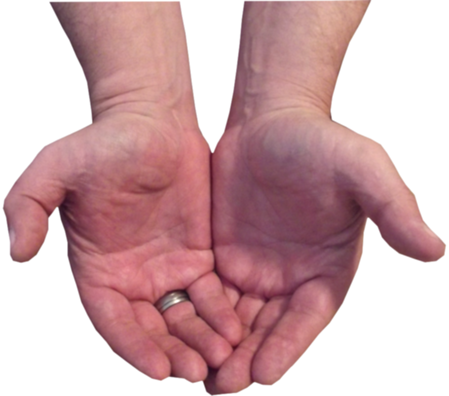 cupped hands png
