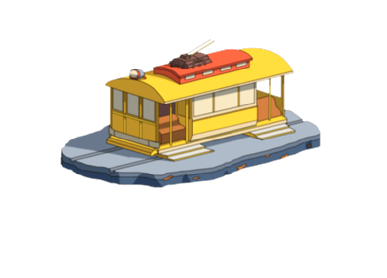 dinner made out of train cars fasade png