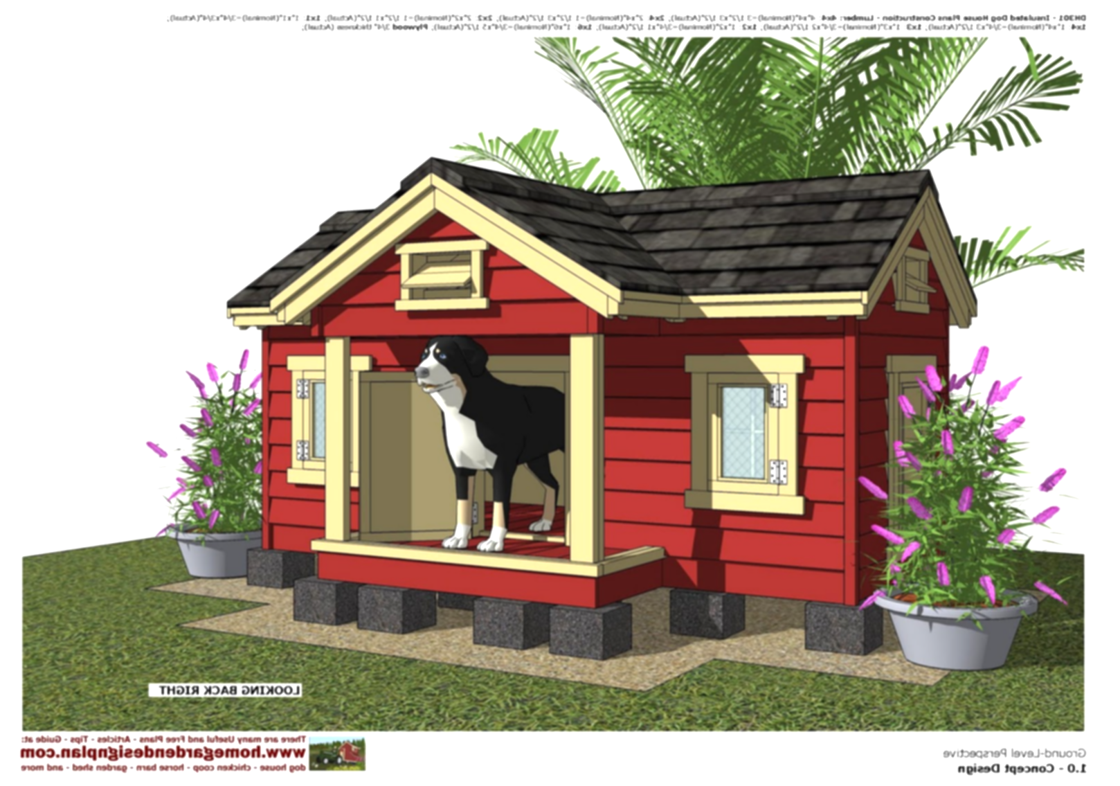 doghouse clipart chicken house