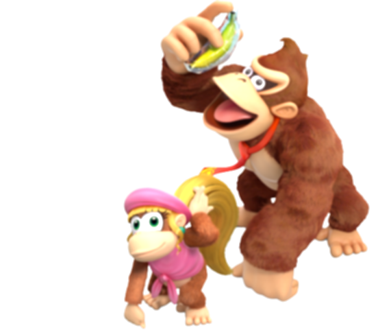 donkey kong country tropical freeze family png